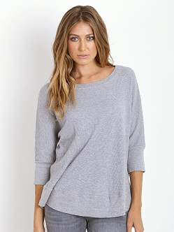 Splendid Thermal U Neck Box Top Heather Grey