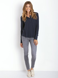 Splendid Thermal Henley Navy