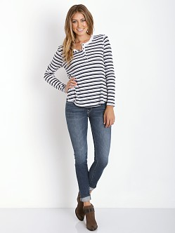 Splendid Thermal Navy Stripe Henley