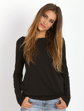 Splendid Very Light Jersey V Back Tunic Black