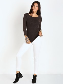 Free People Newbie Thermal Bali Babe Cuff Black