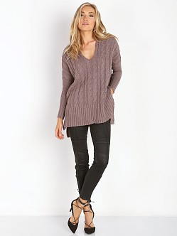 Free People Easy Cable V Mushroom
