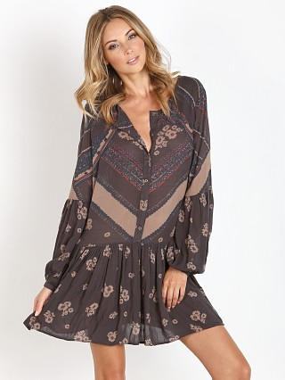 Free People Printed Rayon Guaze From Your Heart Midnight