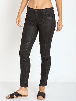 Free People Coated Low Rise Jillian Skinny Pant Black