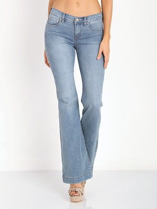 Free People Clean Mid Rise Flare Denim Stevie Wash