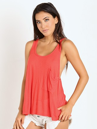 Free People Linen Rib Hot Pocket Tank Fire