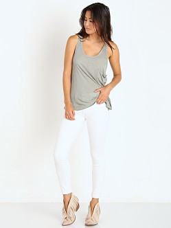 Free People Linen Rib Hot Pocket Tank Sage