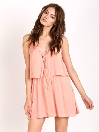 The Jetset Diaries Lotus Mini Dress Blush
