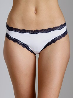 Cosabella Giulietta Low Rise Thong White/Navy