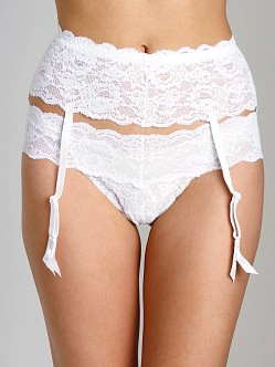 Cosabella Never Say Never Garter Belt White