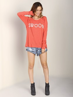 WILDFOX Swoon Cozy Raglan Valentine