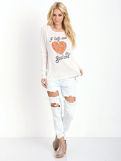WILDFOX My Scottish Heart Cozy Raglan Vintage Lace