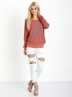 WILDFOX Wild & Free Baggy Beach Jumper Fox Fur