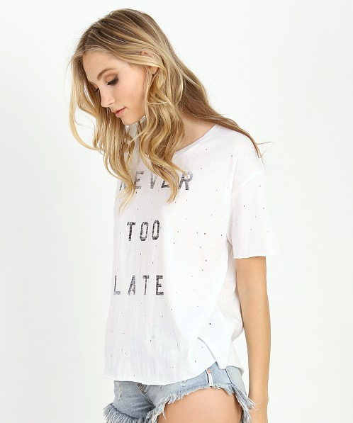 Knot Sisters Never Too Late Tee Blanco