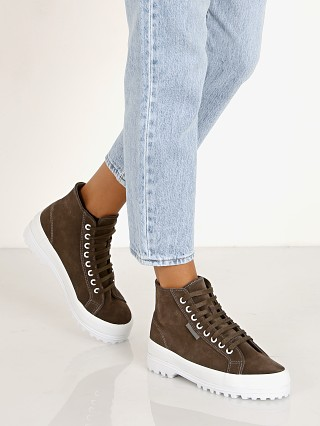 Complete the look: Superga 2341 Suede High Top Sneaker Dark Grey