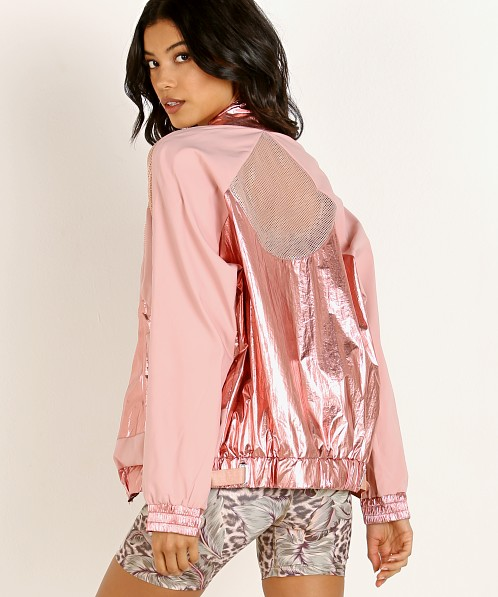 Beach Riot Metallic Jacket Rose Gold