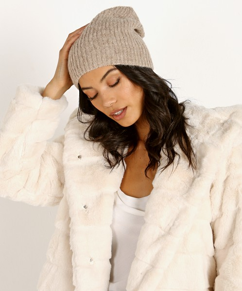 Janessa Leone Piper Beanie Light Brown