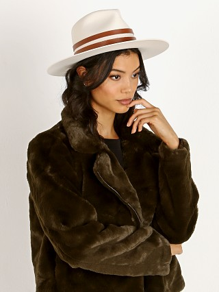 Model in ivory Janessa Leone Frankie Hat