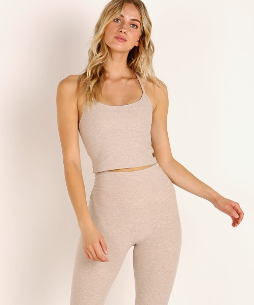 Beyond Yoga Spacedye Slim Cropped Tank Sand Swept