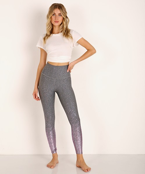 Beyond Yoga Alloy Ombre High Waisted Midi Legging Shiny Mauve Sp Sf3243 Free Shipping At Largo Drive