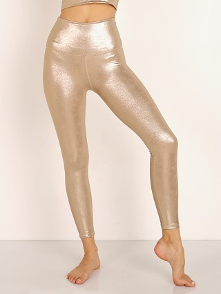 Beyond Yoga Luxe High Waisted Midi Legging Matte Light Gold Foil