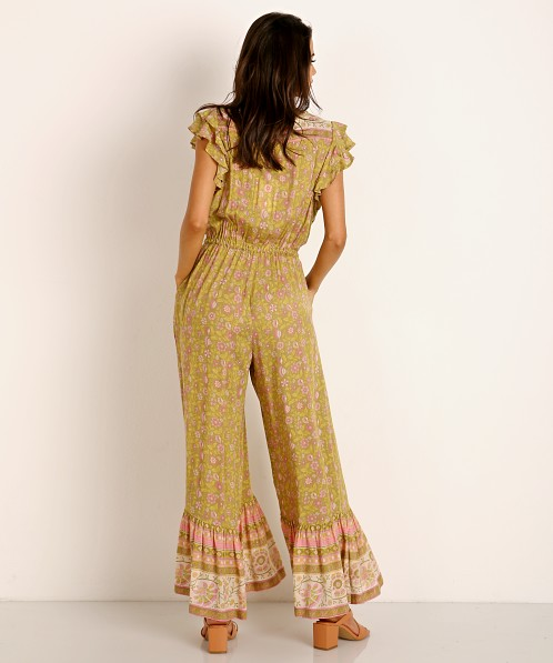 Spell & The Gypsy Dahlia Jumpsuit Bronze