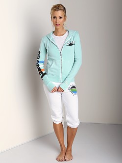 Day By Day Zip Up Hoodie Turquoise