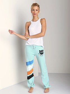 Day By Day Elastic Pants Turquoise