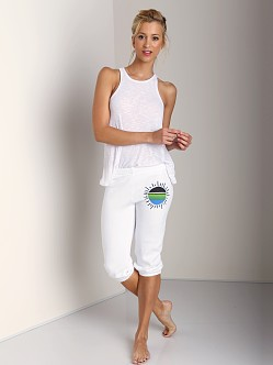Day By Day Elastic Capri Pant White