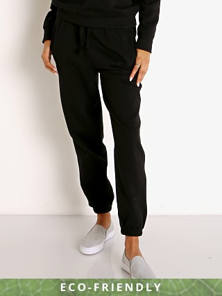 Model in black Richer Poorer Recycled Fleece Sweatpant