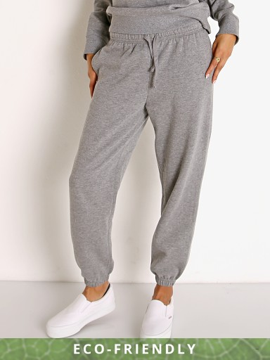 Model in heather grey Richer Poorer Recycled Fleece Sweatpant