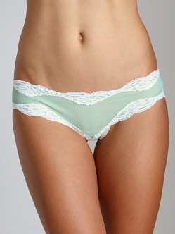 Only Hearts Tulle With Lace Brazilian Bikini Menthol/Creme