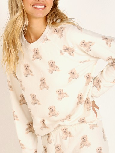 All Things Fabulous Billie Dog Raglan Cozy Jumper Lace