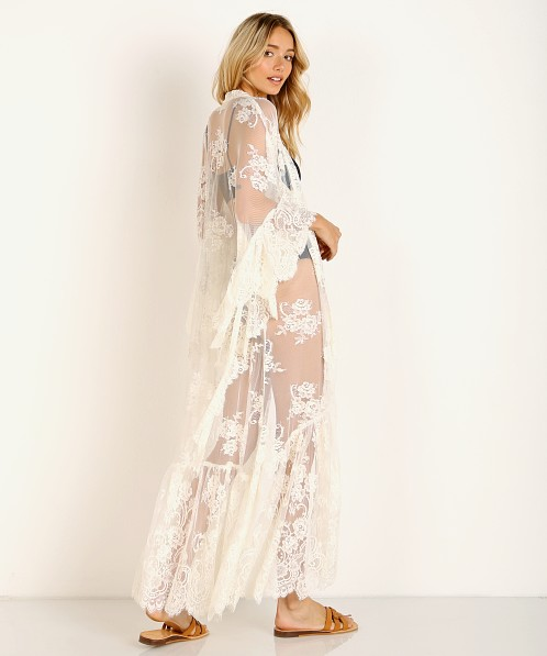 Jen's Pirate Booty Buena Vista Ethereal Lace Robe White-Sand