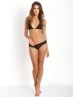 Bettinis Strappy Triangle Bikini Top Black