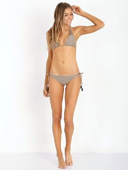 Bettinis Strappy Tie Side Bikini Bottom Putty