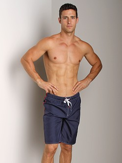 Diesel Reversible Spardouble Long Swim Boxer Navy