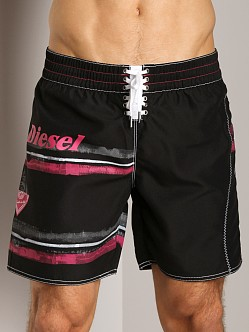Diesel Blansrif Striped Graphic Swim Boxer Black