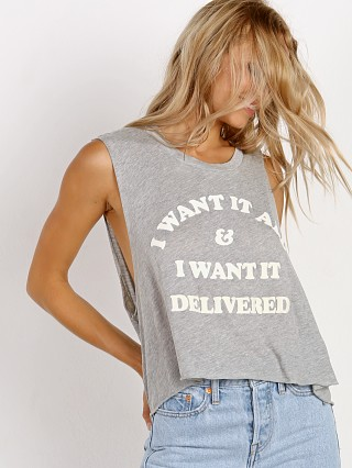 WILDFOX I Want it Delivered Chad Tank Heather