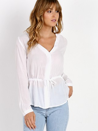 Bella Dahl Tie Waist Button Down White