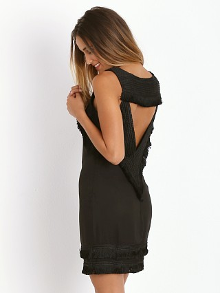Mara Hoffman Open Back Mini Fringe Dress Black