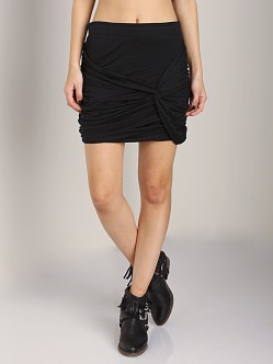 Free People Twistful Mini Skirt Black