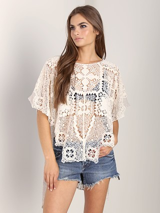 Free People Bad Romance Sweater Ivory