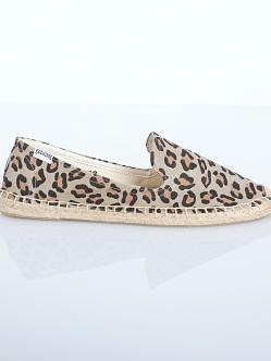 Soludos Smoking Slipper Espadrille Leopard
