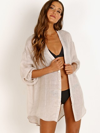 Vitamin A Eco Linen Playa Shirt Dress Mallorca