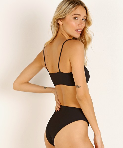 Stone Fox Swim Bliss Top Black Rib