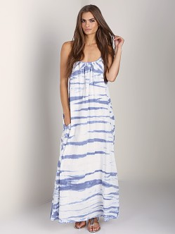LACAUSA Shush Dress Native Vintage Blue