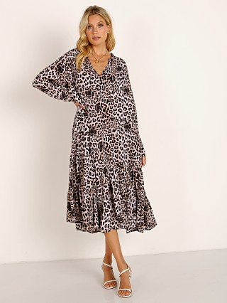 MIKOH Labasa Cover Up Dress Leopard