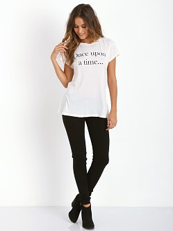 WILDFOX Short Story Hippie Crew Vintage Lace