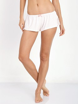 Eberjey Open Hearted Shorts Ivory/Vintage Rose